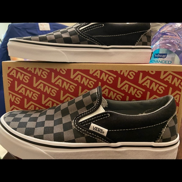 Vans Shoes | New Grey Checkered | Poshmark